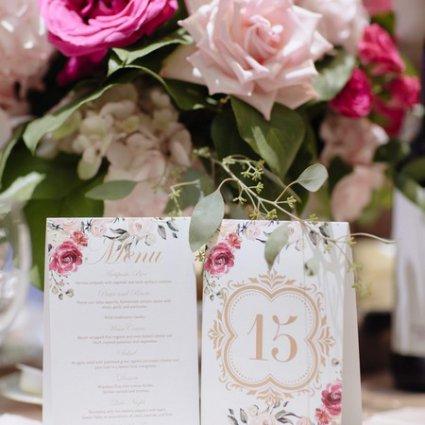 Stephita Invitations featured in Joanna and Giampiero's Elegant Wedding at The Royalton