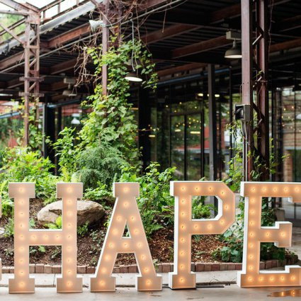 Wild and Free Marquee featured in Love by Lynzie Presents: The Largest Pop Up Wedding Chapel To…