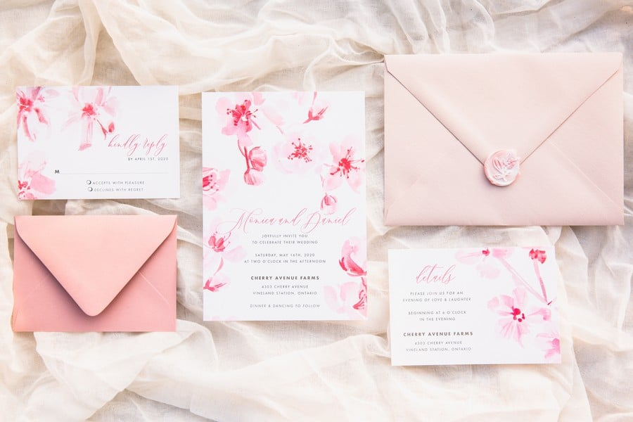 romantic earthy spring cherry blossom styled shoot, 1