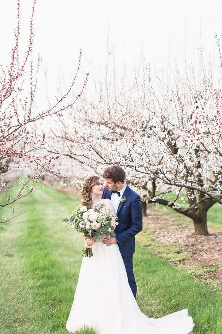 romantic earthy spring cherry blossom styled shoot, 25