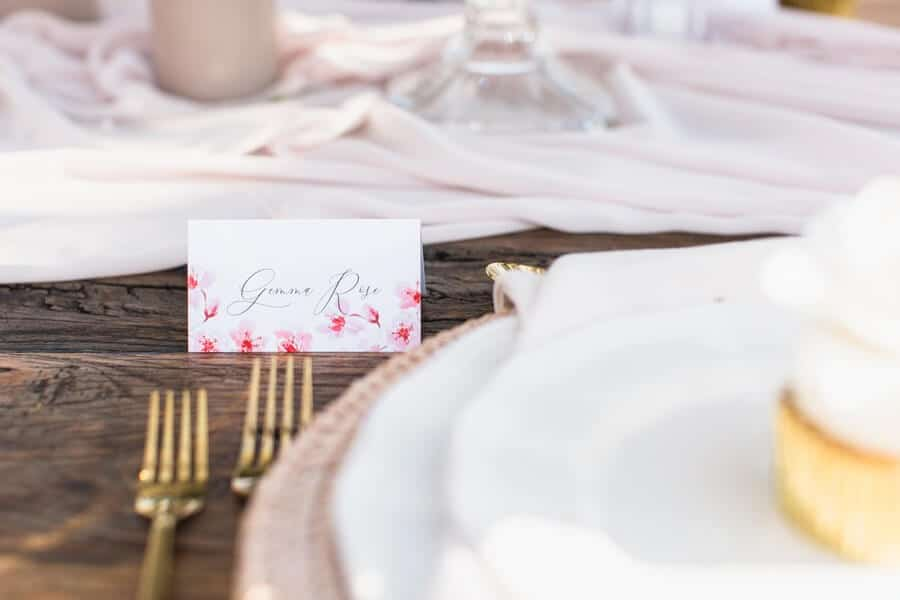 romantic earthy spring cherry blossom styled shoot, 17