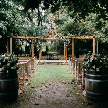 Honsberger Estate featured in Kelly and David's Romantic Fall Wedding at Honsberger Estate