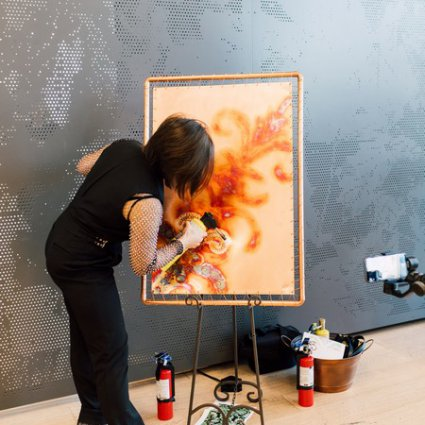 Olga Pankova - Live Event Artist featured in EventSource.ca Presents the 2019 Toronto Catering Showcase