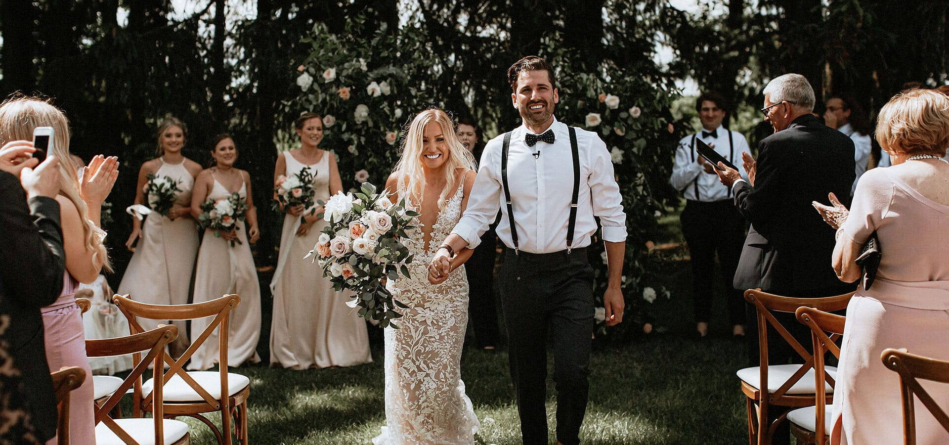 Hero image for Sarah and Andrew's Country Chic Wedding at Cambium Farms