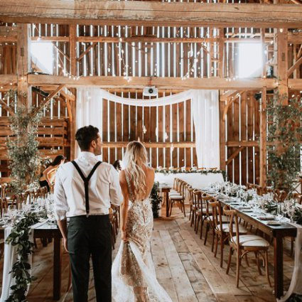 Lovely in Lace Events & Co. featured in Sarah and Andrew's Country Chic Wedding at Cambium Farms