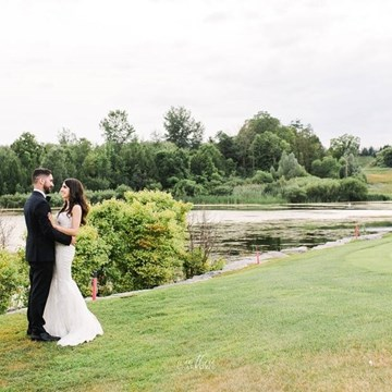 Jessica and Christopher's Classic White-and-Green Wedding at Eagles Nest Golf Club