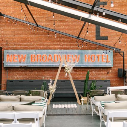The Broadview Hotel featured in Ashley and Keaton's Romantic Wedding at the Broadview Hotel