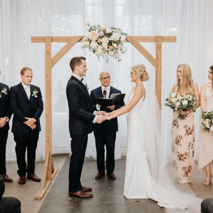 Ceremonies With Choice featured in Jenn & Mitch's Stunning Nuptials at Artscape Wychwood Barns
