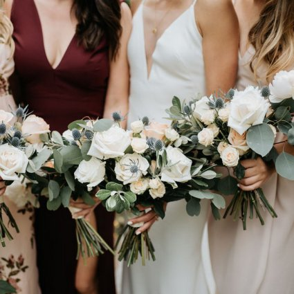 Botany Floral Studio featured in Jenn & Mitch's Stunning Nuptials at Artscape Wychwood Barns