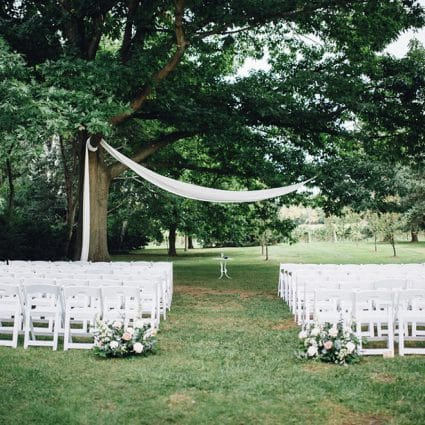 Shaw Events featured in Lauren and Chris' Niagara-on-the-Lake Wedding at Kurtz Orchards