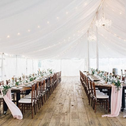 Simply Beautiful Decor featured in Lauren and Chris' Niagara-on-the-Lake Wedding at Kurtz Orchards
