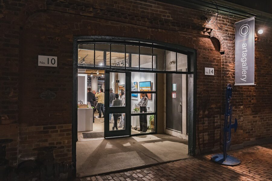 a warm fall open house at arta gallery, 1