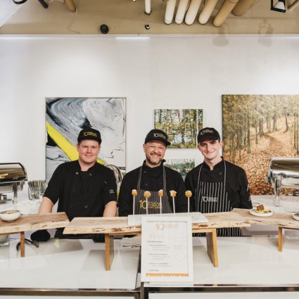 10tation Event Catering featured in A Warm Fall Open House at Arta Gallery