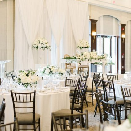 Champagne & Cedar featured in Jessica and Christopher's Classic White-and-Green Wedding at …