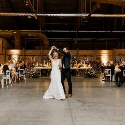 Impact DJ featured in Alexis and Aaron's Romantic Evergreen Brick Works Wedding