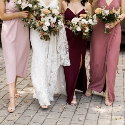 Rosehill Blooms featured in Alexis and Aaron's Romantic Evergreen Brick Works Wedding