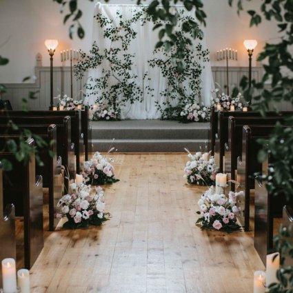 Peachwood Studio featured in Tina and Mike's Oh-So Romantic Wedding at the Doctor's House