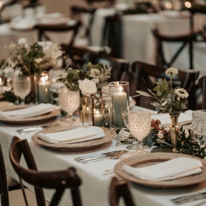 Plate Occasions featured in Sarah and Ross' Darling Wedding at the Glenerin Inn & Spa