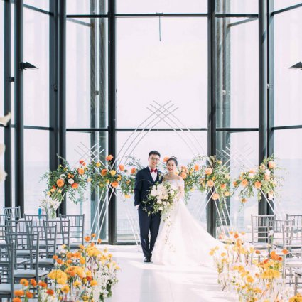 Spencer's at the Waterfront featured in Lisa and Jason's Citrus Infused Wedding at Spencer's at the W…