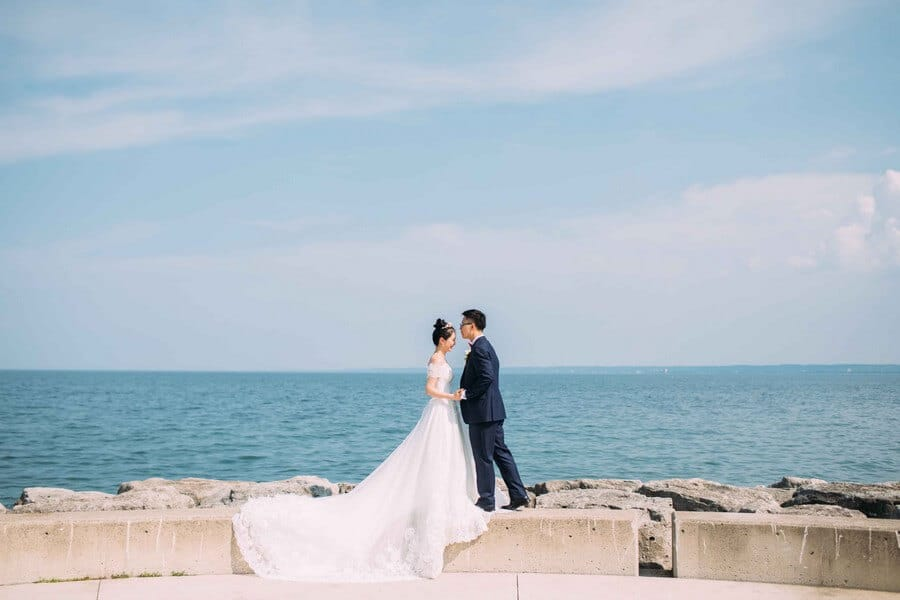 Wedding at Spencer's at the Waterfront, Burlington, Ontario, White by LaMemoir, 16