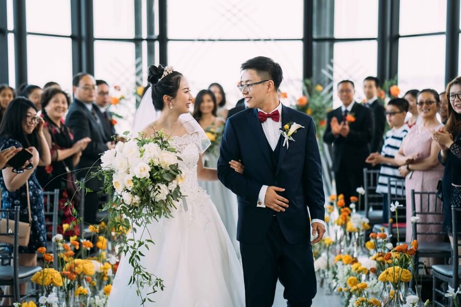 Citrus Coloured Wedding