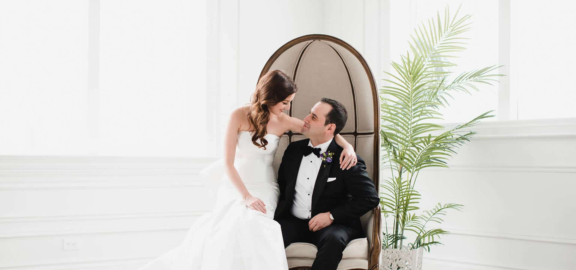 Hero image for Renée and Aaron's Beautiful Wedding at the Grand Luxe Event Boutique