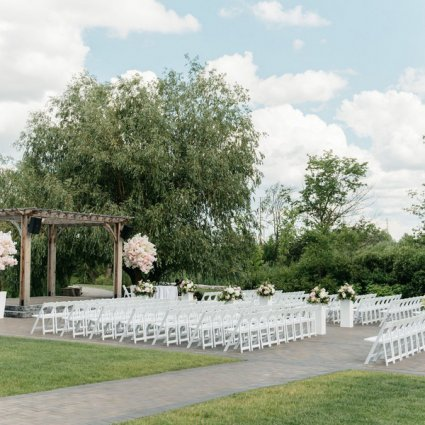 Threads and Blooms featured in Helen and Matthew's Cream-and-Pink Wedding at the Arlington E…