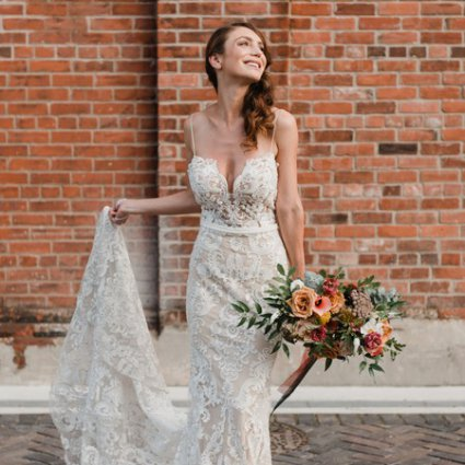 Oh Happy Brides Bridal featured in A Rustic-Chic Style Shoot Turned Intimate Elopement at Balzac…