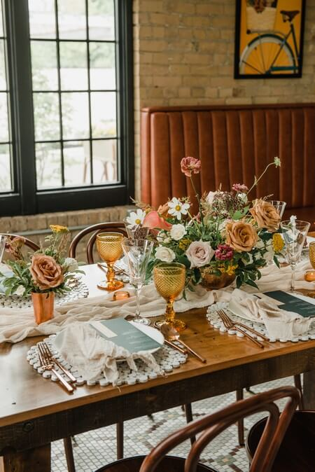 a rustic chic style shoot turned intimate elopement at balzacs powerhouse, 20