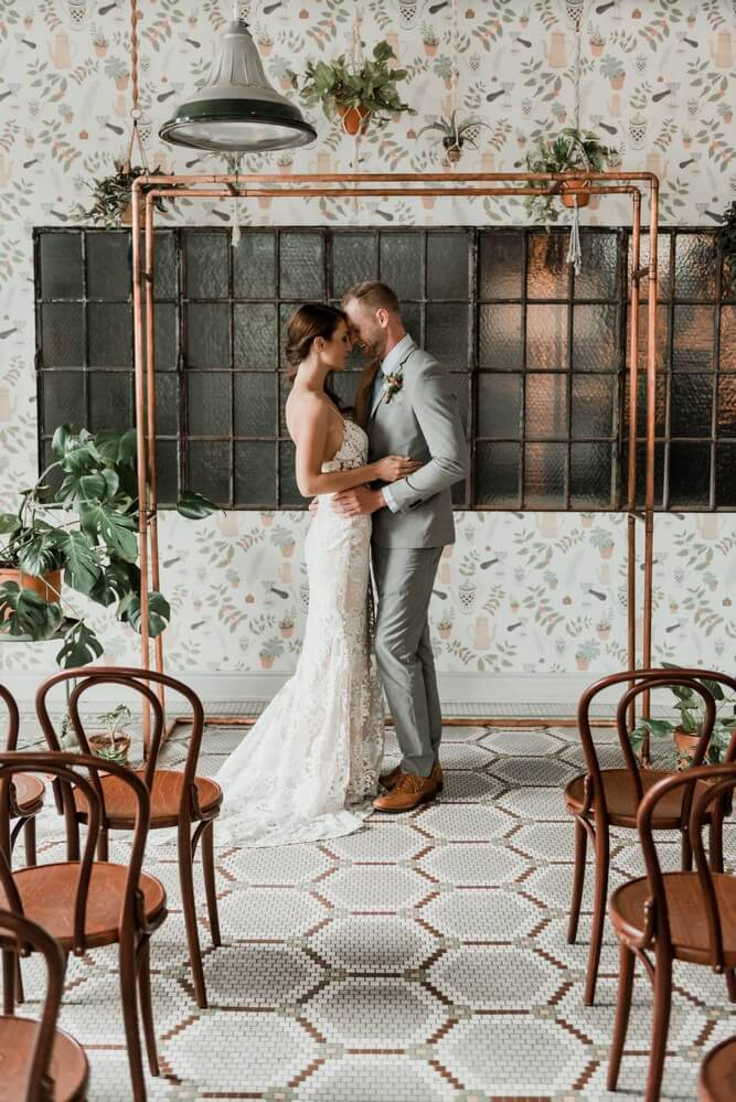 a rustic chic style shoot turned intimate elopement at balzacs powerhouse, 13