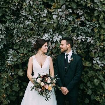 Kelly and David's Romantic Fall Wedding at Honsberger Estate