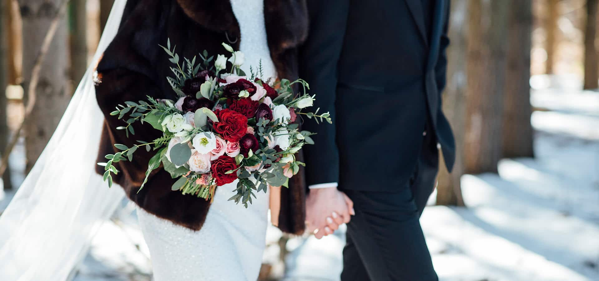 Hero image for Susan and Robert's Elegant Winter Wedding at Chateau Le Parc