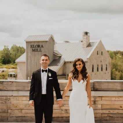 Elora Mill Hotel & Spa featured in Sarah and Ryan's Romantic Elora Mill Wedding