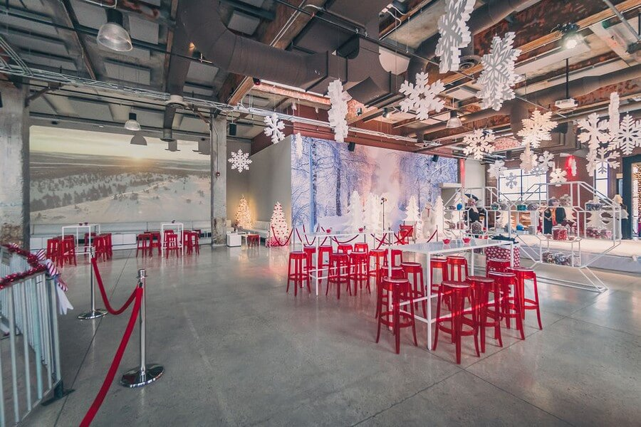 a festive industry holiday party at the symes, 1