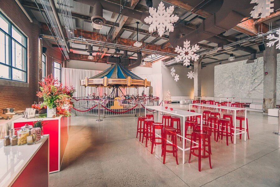 a festive industry holiday party at the symes, 2