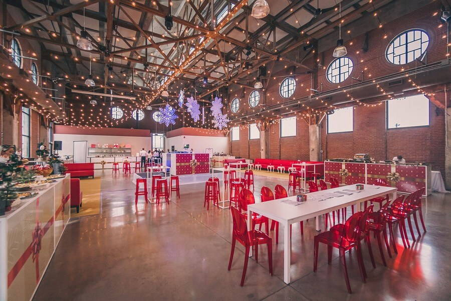 a festive industry holiday party at the symes, 21