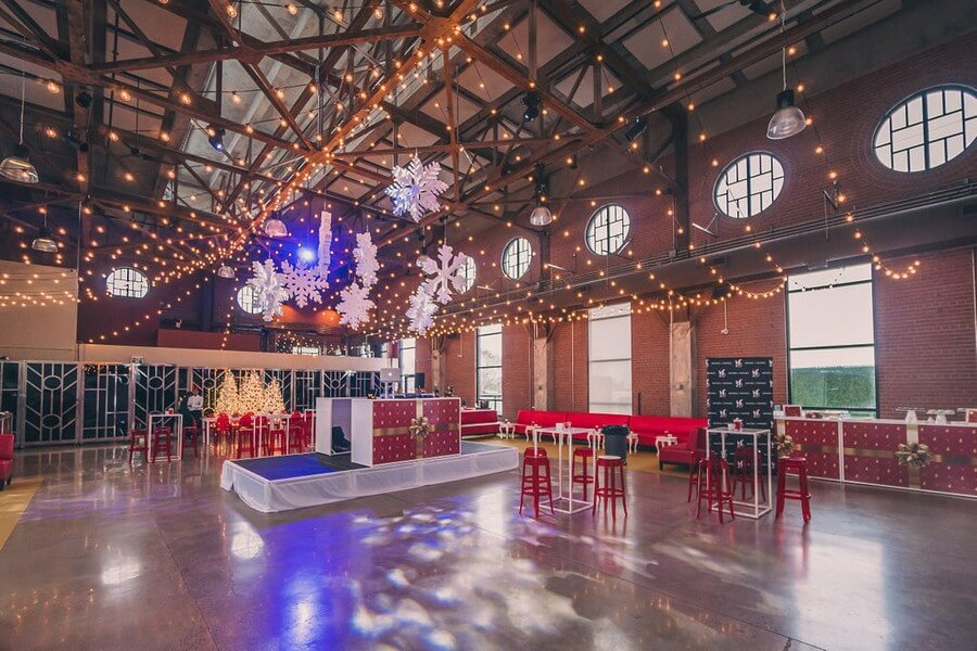 a festive industry holiday party at the symes, 23
