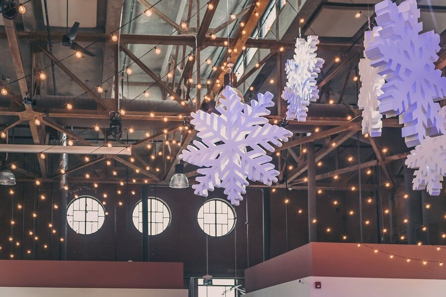 a festive industry holiday party at the symes, 28