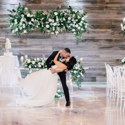 Designer Dance Floors featured in Marina and Ramy's Lush Wedding at Eglinton West Gallery