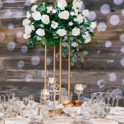 Table Tales featured in Marina and Ramy's Lush Wedding at Eglinton West Gallery