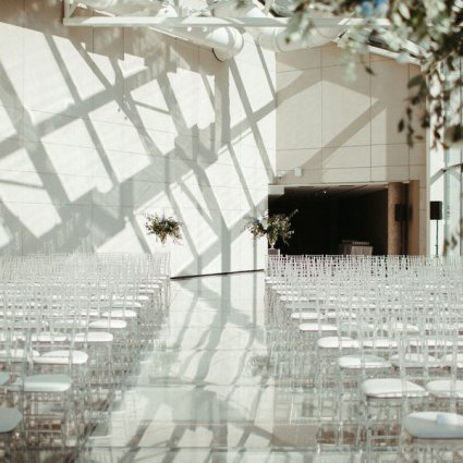 Hotel X Toronto featured in Anita and Corey's Classic White Wedding at Toronto's Hotel X