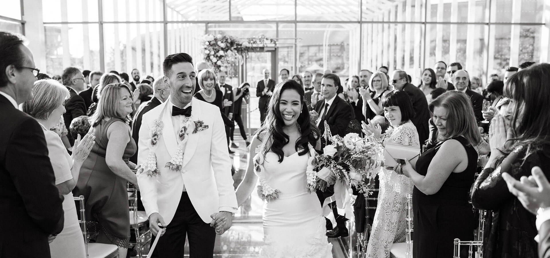 Hero image for Anita and Corey's Classic White Wedding at Toronto's Hotel X