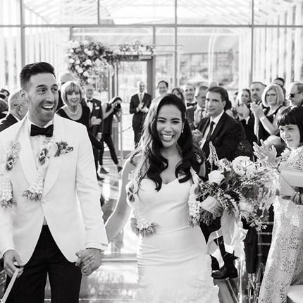 Anita and Corey's Classic White Wedding at Toronto's Hotel X