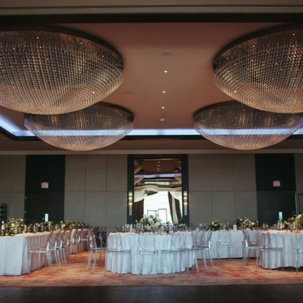 Peter and Pauls Event Catering featured in Anita and Corey's Classic White Wedding at Toronto's Hotel X