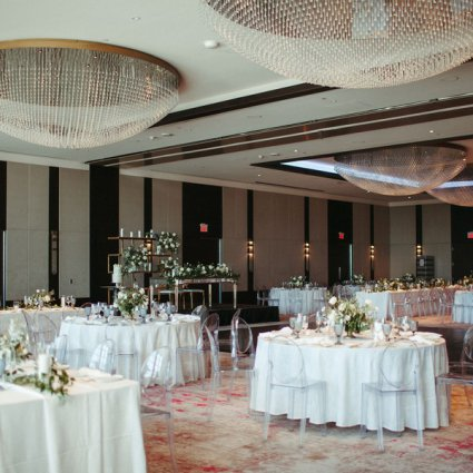 Plate Occasions featured in Anita and Corey's Classic White Wedding at Toronto's Hotel X