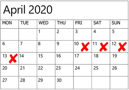 dates to avoid for weddings in 2020 2021, 6