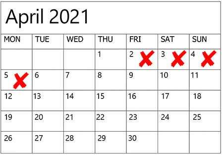 dates to avoid for weddings in 2020 2021, 7