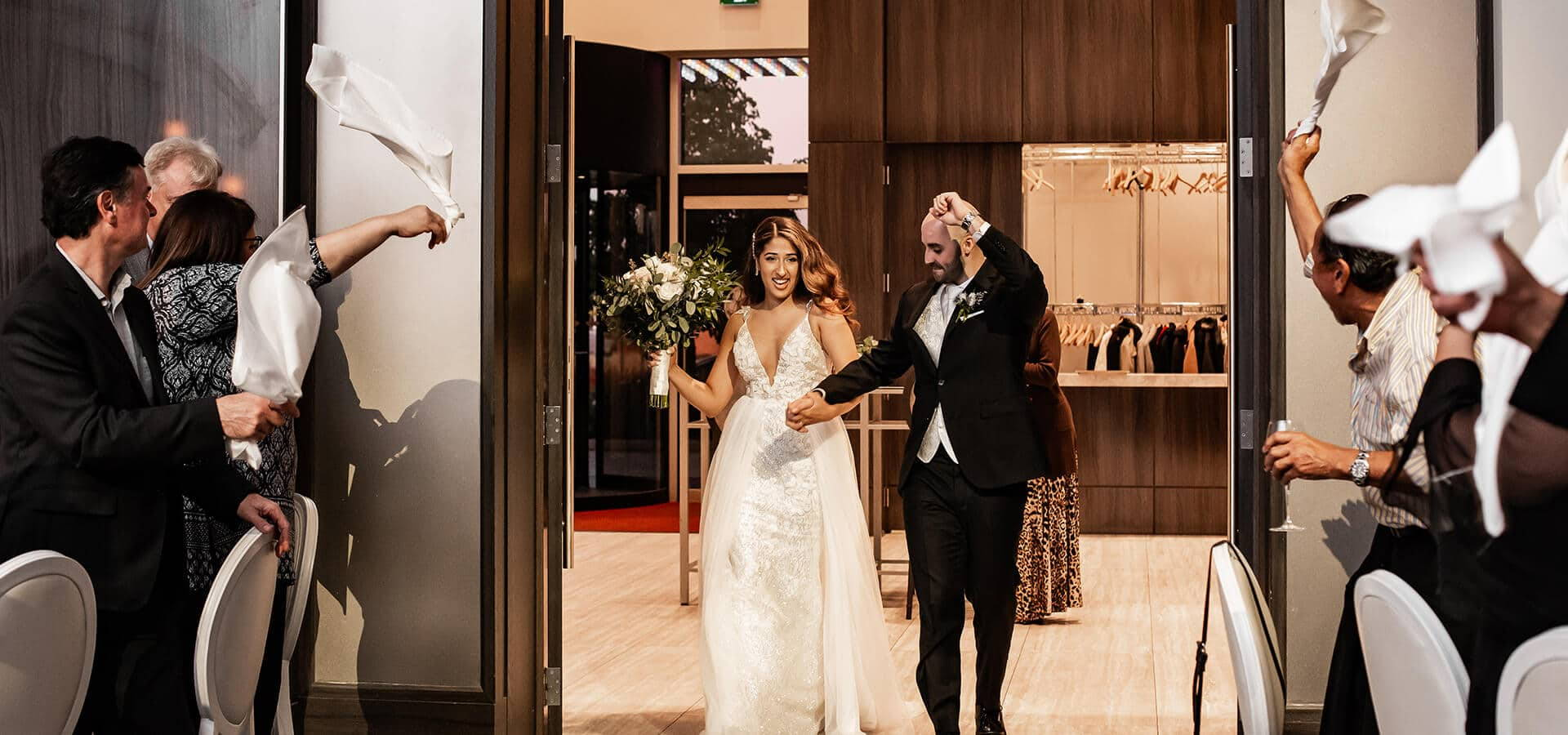 Hero image for 5 Unique Ways to Enter Your Wedding Reception in Style