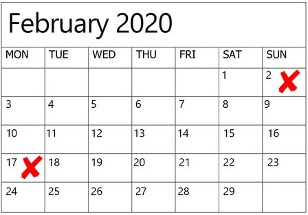 dates to avoid for weddings in 2020 2021, 2