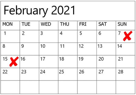 dates to avoid for weddings in 2020 2021, 3
